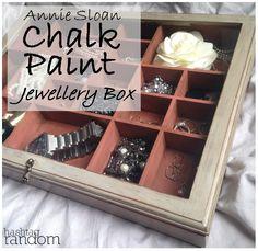 Annie Sloan Chalk Paint transformation. Refurbished a display cabinet into a jewelry box - Paris Grey, Scandinavian Pink and Dark Soft Wax.