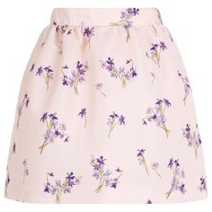 Red Valentino Lilas Flower Bubble Skirt ($335) ❤ liked on Polyvore featuring skirts, bottoms, pink bubble skirt, red valentino, pink flower skirt, floral printed skirt and elastic waist skirt