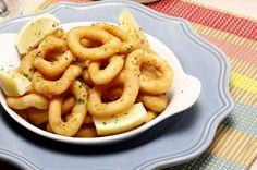 Receita de Lulas à sevilhana. Descubra como cozinhar Lulas à sevilhana de maneira prática e deliciosa com a Teleculinaria!