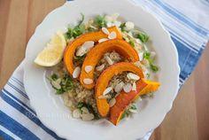 Quinoa Salat mit Feta und geröstetem Kürbis