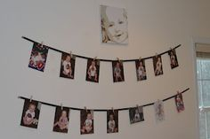 cute birthday picture display idea
