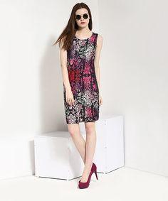 Yepme Digital Print Bodycon Dress - Red & Black