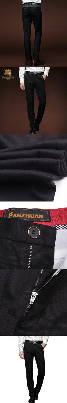 FANZHUAN Featured Brands Clothing Autumn And Winter pants Men's Casual Pants Slim Straight Pants High Quality Black Trousers Men