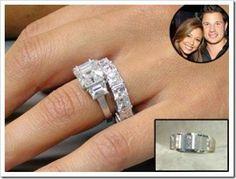 Jessica Simpson Celebrity Enement Rings