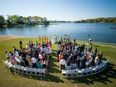Everything You Need to Know About Hiring a Drone for Your Wedding | Photo by: Rebecca Keeling Studios | TheKnot.com