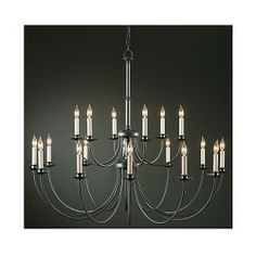 Hubbardton Forge Classic Iron 18-Arm Chandelier