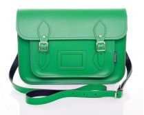 Zatchels Green Leather Satchel