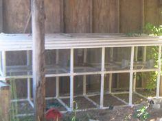 PVC Rabbit Hutch.  I'm making this...after a few minor adjustments!