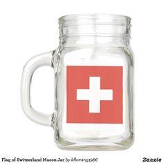 Flag of Switzerland Mason Jar