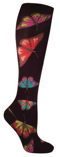 Large Butterfly Knee High Socks