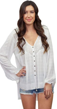 Free People White Lie Top in Ivory at www.shopblueeyedgirl.com