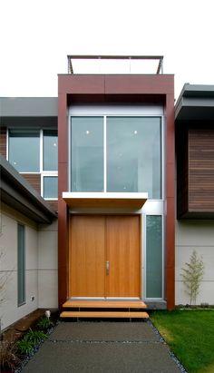 Residential Double Front Doors mid-century modern double doors - contemporary - front doors