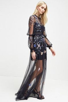 Caspia Embroidered Maxi Dress c36583a53