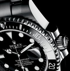 The Rolex Submariner Date in 904L steel with a black dial and black Cerachrom bezel in ceramic.