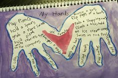 """""""Art Journal for Kids - My Hands"""" This looks like a great tool for strengthening yours and your child's #emotional_intelligence."""