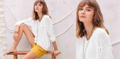 Tricot gratuit : le pull blanc coton jersey : Femme Actuelle Le MAG
