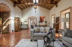 Clint Eastwood's Spanish Revival property on 4.71 acres in Pebble Beach. Known as Hacienda Este Madera (East Wood), it was designed by architect Clarence A. Tantau and completed in 1928