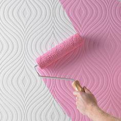 "Graham & Brown Paintable Curvy 33' x 20"" Geometric 3D Embossed Wallpaper & Reviews | Wayfair"