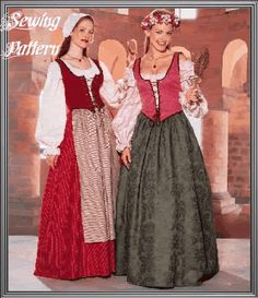 Cosplay sewing patterns and historical costume sewing patterns. Make bodysuits, corsets, capes, gowns, tunics and more for cosplay costumes. Cosplay events listing and cosplay tutorials. Renaissance Fair Costume, Medieval Costume, Renaissance Corset, Victorian Corset, Medieval Peasant, Medieval Dress, Medieval Clothing, Dance Costumes, Renaissance