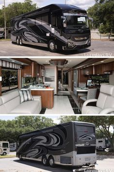The American Coach Eagle has landed at Lazydays RV. This luxurious class A has all the amenities you could imagine that you would need on the open road. Visit our dealership in Tampa, FL to see more of this award-winning luxurious motor home. Luxury Bus, Luxury Motors, Super C Rv, Luxury Rv Living, Motor Homes For Sale, Cool Rvs, Luxury Motorhomes, Rv Bus, Class A Motorhomes