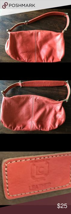 "Beautiful Orange Liz Claiborne Small Hobo Purse Approximately 8"" Length Small Hobo. EUC. Liz Claiborne Bags Hobos"