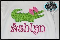 Alligator Personalized Applique Embroidery Shirt by SoModish, $20.00