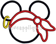 INSTANT DOWNOAD Cute Pirate Mickey Mouse Disney by iloveappliques, $2.99