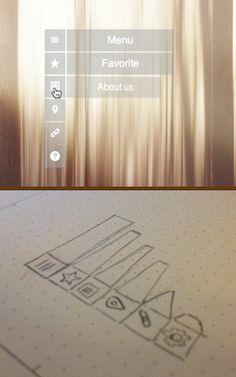 Webkit css flip menu by José Barcelon-Godfrey, via Behance