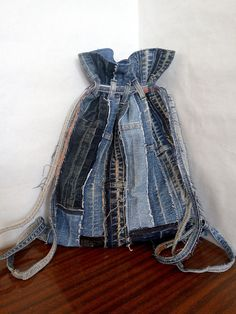 Check out this item in my Etsy shop https://www.etsy.com/listing/608519467/a-backpack-of-jeans-style-homeless