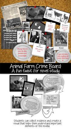 Put a fun twist on studying Animal Farm with a CSI Crime Board!