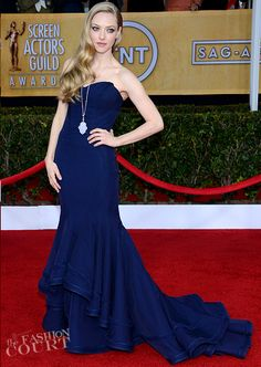 SAG Awards 2013. Amanda Seyfried de Zac Posen