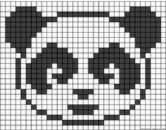 Baby Hats Knitting, Knitting Charts, Baby Knitting Patterns, Knitting Stitches, Needlepoint Stitches, Panda Craft, Modele Pixel Art, Fair Isle Chart, Pixel Pattern