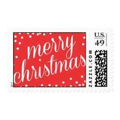 Merry Christmas Script Postage