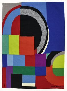Sonia Delaunay: La Courbe grise 1970-1972, Wolle, 183 x 135 cm Fondation Toms Pauli. (c) Pracusa 2015097 Photo: AN, A. Conne, Lausanne