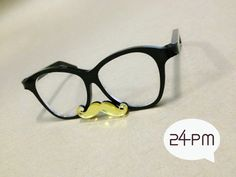 My Mustache Gold  Black Glasses by 24PM on Etsy, ฿447.28