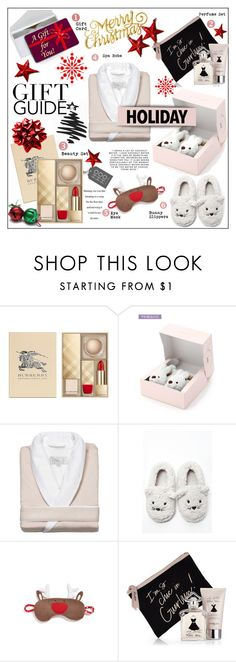 """Last Minute Gift Ideas"" by rosie305 ❤ liked on Polyvore featuring Burberry, Kassatex, Forever 21, Make + Model, Guerlain, Nameless, H&M and lastminutegifts"
