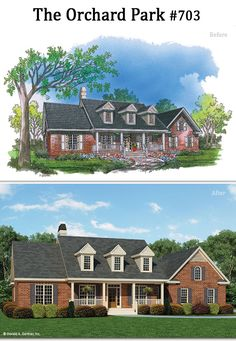 The Orchard Park house plan 703 has an updated rendering. #WeDesignDreams