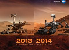 From NASA, a 2013/14 wall calendar with beautiful Mars images and useful dates. Download the .pdf at the link.