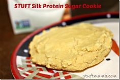 STUFT Silk Protein Sugar Cookie 2 tablespoons coconut flour 1 tablespoon vanilla flavored protein powder 1/4 teaspoon baking powder 1/4 teaspoon vanilla butter and nut extract (or regular vanilla extract) 4 tablespoons of nondairy milk of choice