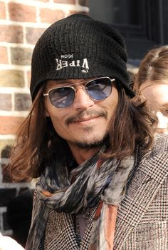 Johnny Depp arriving @ The Late Show Feb 2013
