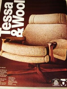 Tessa t21 chair advertisement from House and Garden 1974. Repinned by Secret Design Studio, Melbourne.  www.secretdesignstudio.com