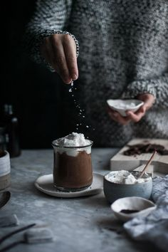 Indulge this weekend with this rich London Fog Hot Chocolate and Mapled Whip Cream recipe! (Hot Chocolate Party)
