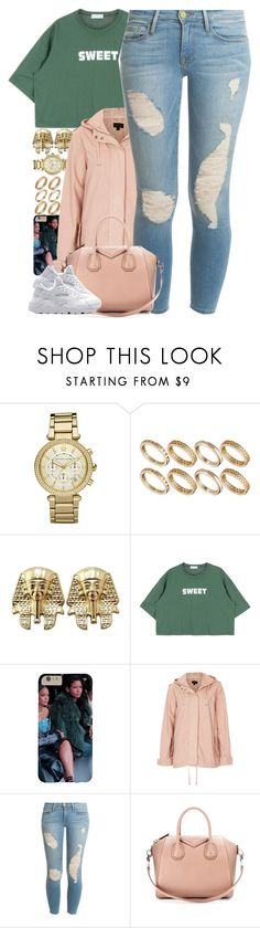"""Untitled #1447"" by power-beauty ❤ liked on Polyvore featuring mode, Michael Kors, ASOS, Topshop, Frame Denim, Givenchy et NIKE"