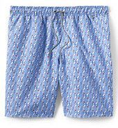 "Lands' End Men's 8"" Volley Swim Trunks-Blue Wave"