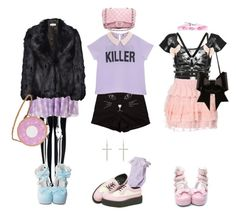 """""""☪ Pastel Goth ☪"""" by amberundead ❤ liked on Polyvore featuring T.U.K., River Island, Whistles, Nila Anthony, Chanel, MM6 Maison Margiela, women's clothing, women's fashion, women and female"""