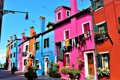 Burano is an island of Venice in Italy, famous for its lace and coloured houses. I really love the bright colored houses Passport Travel, Us Travel, Shopping Travel, Travel Europe, Luxury Travel, Painted Ladies, Venice Travel, Italy Travel, St John's