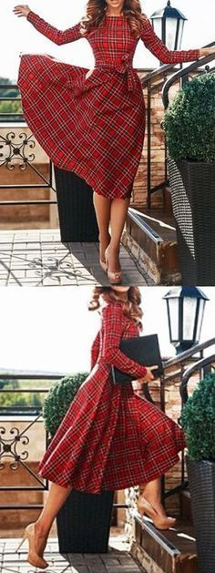 Perfect plaid dress! -- I'm in love! Where do I find these? http://Choies.com
