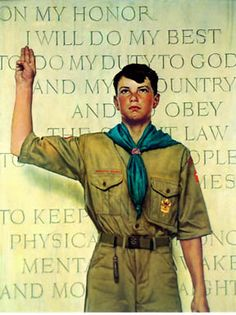 Norman Rockwell - BSA painting