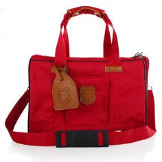 Lovely summerSoft Sided Pet Carrier Airline Approved Pet Travel Portable Carrier Bag for Dogs Cats and Puppies Red *** You can get additional details at the image link.