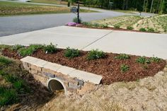 mailbox landscaping with culvert - Google Search | Home ...